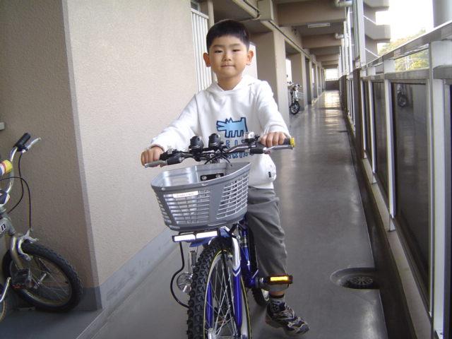 下の子の自転車