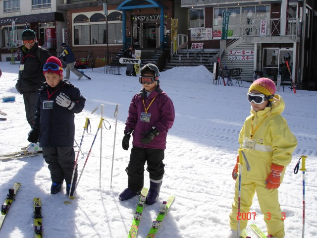 スキーの練習 (午前の部)
