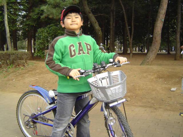 代々木公園でサイクリング