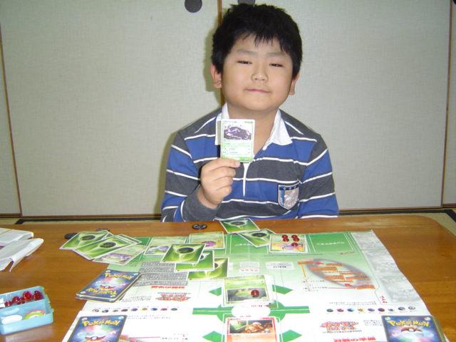 ポケモン・カードゲームでおとうさんに勝った下の子