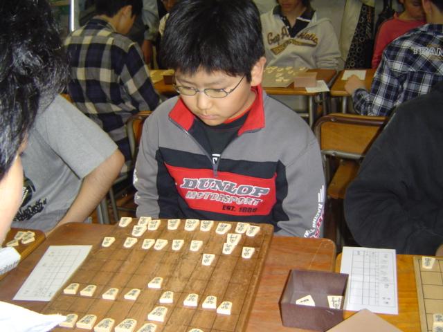 麻布中学・高校文化祭の将棋部にて下の子