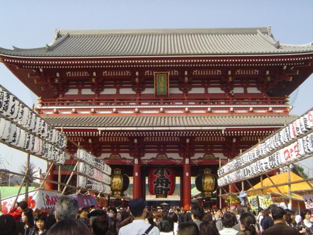 おにいちゃんの十三参りで浅草寺に行く