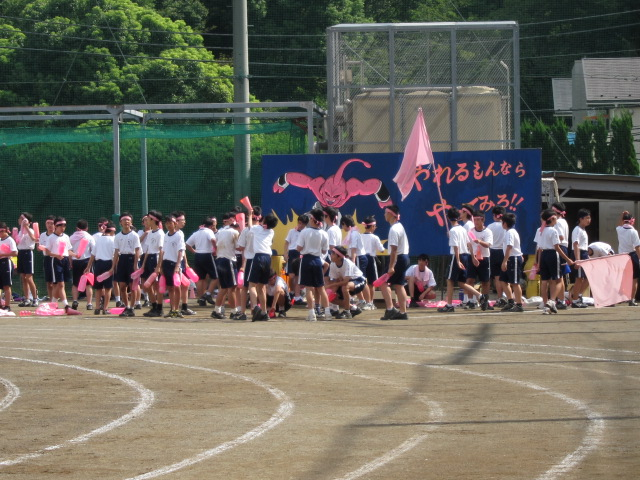 桜組の応援席