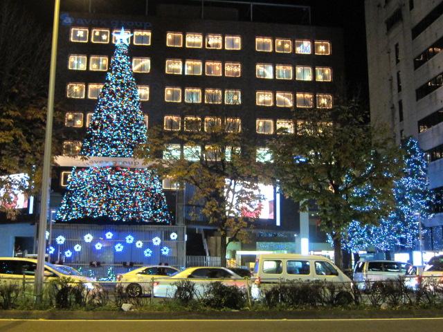 エイベックス・ビルのクリスマス・ツリー